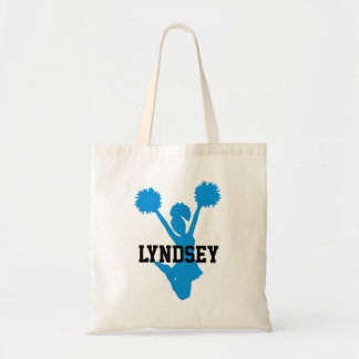 Custom Aquamarine Cheerleader Tote Bag