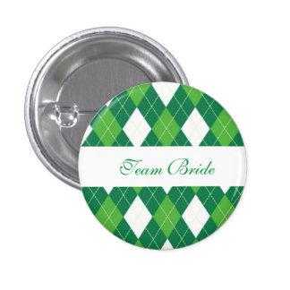 Custom Argyle Wedding Team Bride Buttons