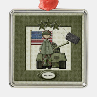 Custom Army Christmas Ornament