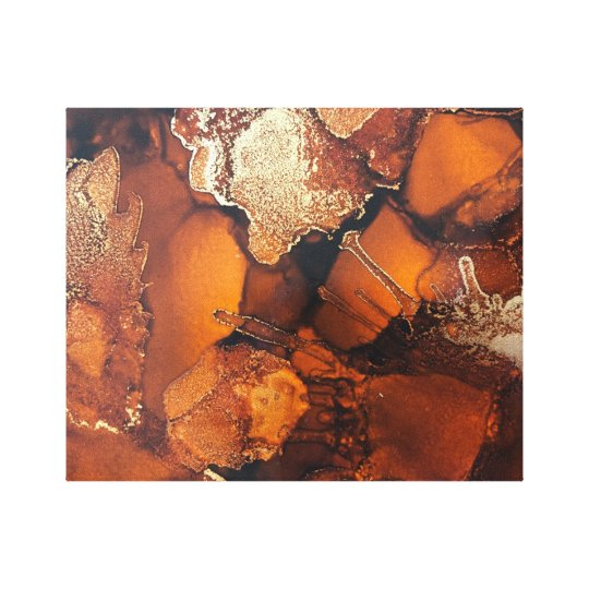 Custom Art Brown & Gold Canvas