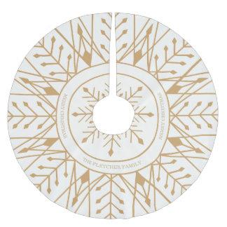 Custom Art Deco Snowflake Holiday Tree Skirt Brushed Polyester Tree Skirt