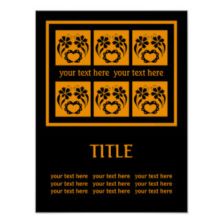 Custom Art Poster With Original Ornamental Design