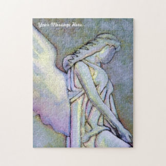 Custom Art Puzzle - Glowing Pink And Green Angel