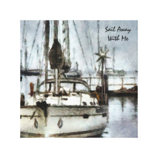 Custom Art - Sailboat Theme - Wrapped Canvas
