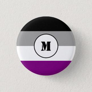Custom asexuality flag button
