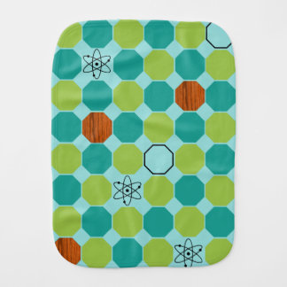 Custom Atomic Octagons Burp Cloth