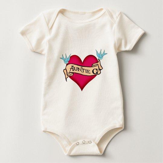 Custom Auntie G Tattoo Heart & Banner Gifts
