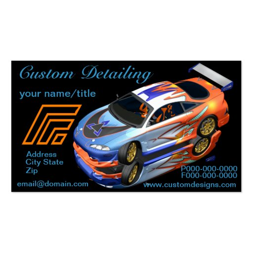 detailing business card