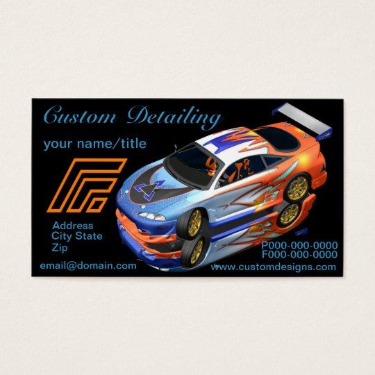 Custom Auto Detailing Business Cards