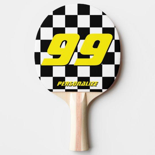 Custom auto racing pong paddle for table tennis