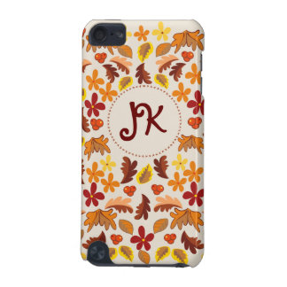 Custom Autumn cheer Monogrammed iPod Touch 5G Covers