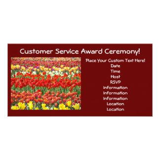Custom Award Ceremony Invitation Cards Tulips Custom Photo Card