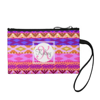 Custom Aztec Girly Monogram Coin Purse