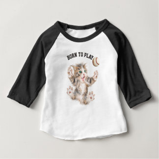 Custom Baby 3/4 Sleeve Raglan shirt
