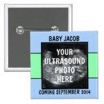Custom Baby Boy Ultrasound Photo Button