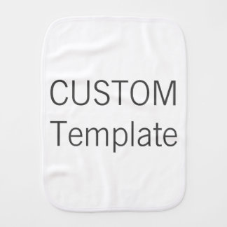 Custom Baby Burp Cloth Blank Template
