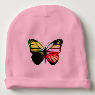 Custom Baby Cotton Beanie - Butterfly Baby Beanie