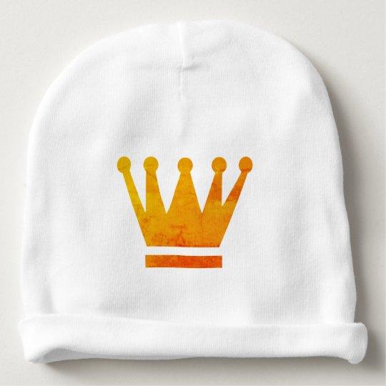 Custom Baby Cotton Beanie Golden Crown Baby Beanie
