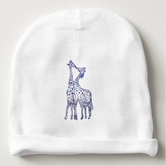 Custom Baby Cotton Giraffes Kiss Baby Beanie