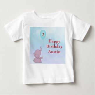 Custom Baby Elephant & Balloon | T-shirt