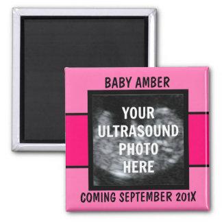 Custom Baby Girl Ultrasound Photo Magnet