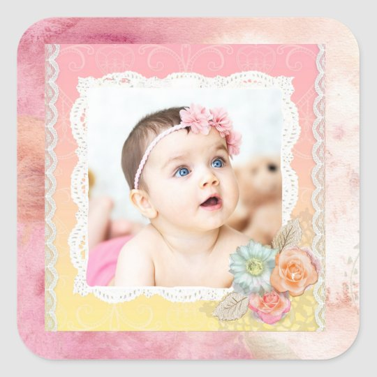 Custom Baby or Family Photo Stickers
