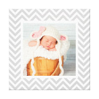 Baby Photo Canvas Print