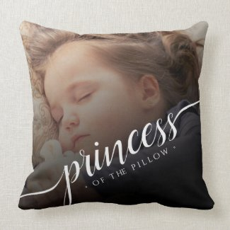 Custom Baby Photo Princess of the Pillow