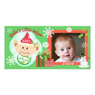 Custom Baby s First Christmas Photo Card