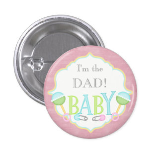Custom Baby Shower Party I'm the DAD Button