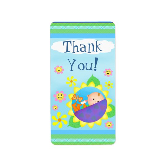 Custom Baby Shower Thank You Sticker / Labels