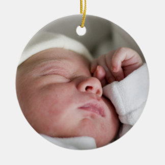 Custom Babys 1st Christmas Photo Ornament
