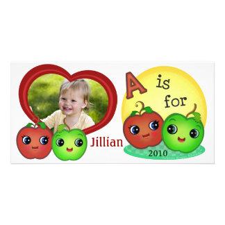 Custom Baby's Apples Photo Card