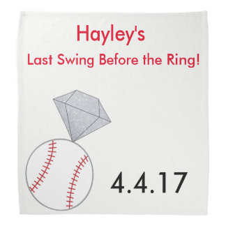 Custom Bachelorette Party Bandana- Baseball Theme Bandana