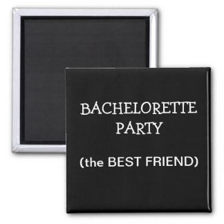 Custom Bachelorette Party ID Button Square Magnet