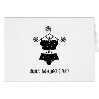 Custom Bachelorette Party Invite-Sexy Lingerie Card