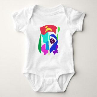Custom Background Color King Baby Bodysuit