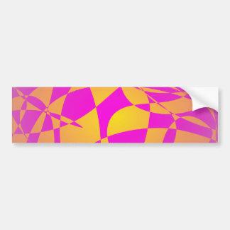 Custom Background Gold Bumper Sticker