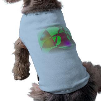 Custom Background Propeller Plane Sleeveless Dog Shirt