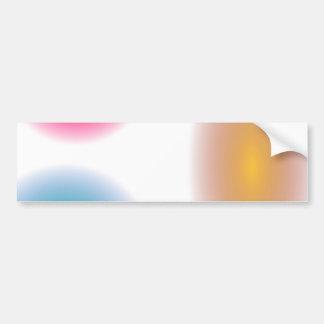Custom Background Smile Car Bumper Sticker