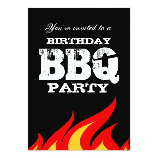Custom backyard BBQ Birthday party invitations