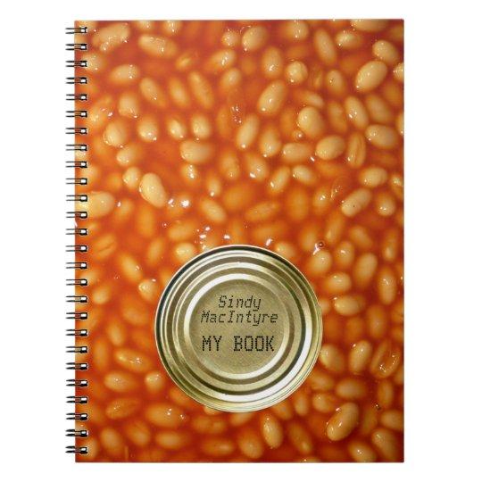 Custom Baked Bean Notebook