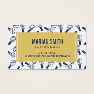 Custom Baking Business Card
