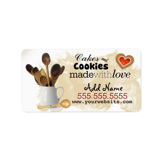 Custom Baking Business Labels