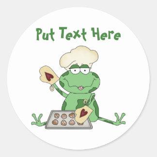 Custom Baking Frog Round Sticker