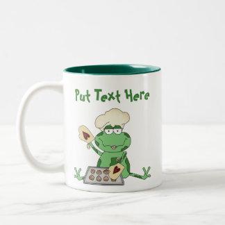 Custom Baking Frog Two-Tone Mug