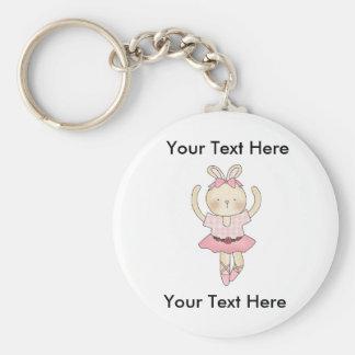 Custom Ballerina Bunny Keychain