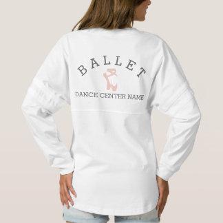 Custom Ballet Slipper Ballerina Dance Center Name