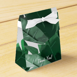 Custom Banana Leaf Print Favor Box Wedding Favour Boxes