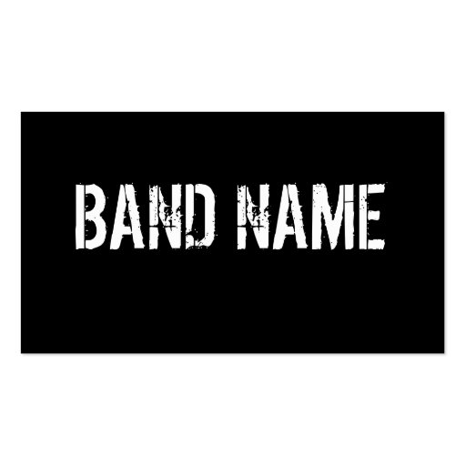 Custom band business card zazzle for Band business cards